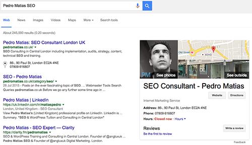 Pedro Matias SEO Google Search