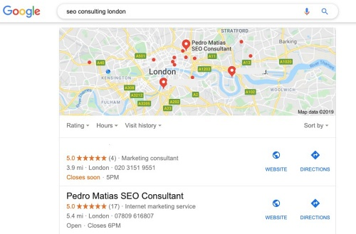 SEO Consulting London, a decade of local SEO knowledge