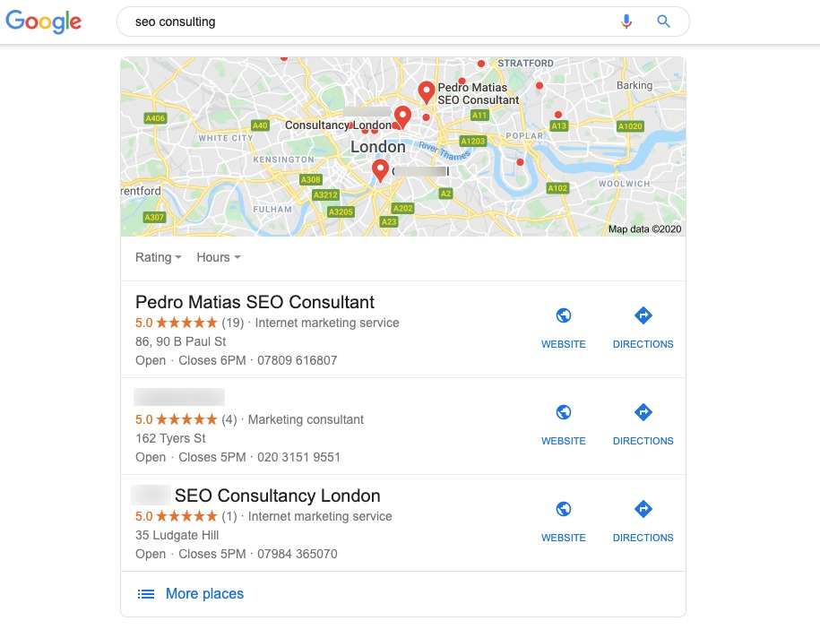 SEO Consulting London - a decade of local SEO knowledge